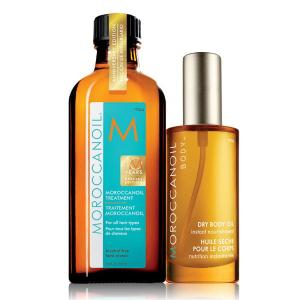 Moroccanoil zestaw: Moroccanoil Treatment Light 100 ml & Dry Body Oil 50 ml